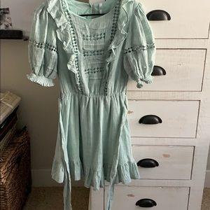 Hello Molly Mint Green Ruffle Dress